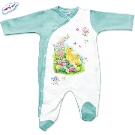 Бебешко гащеризон Пролетен Великден в мента