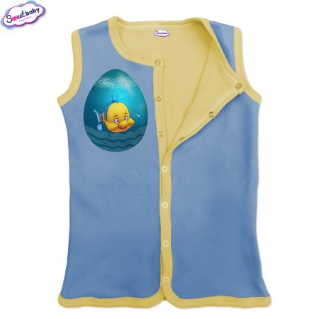 Бебешко елече Немо яйце синьо жълто