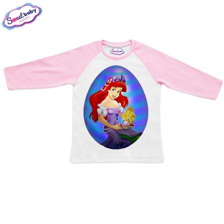 Блузка Ариел яйце бяло и розово