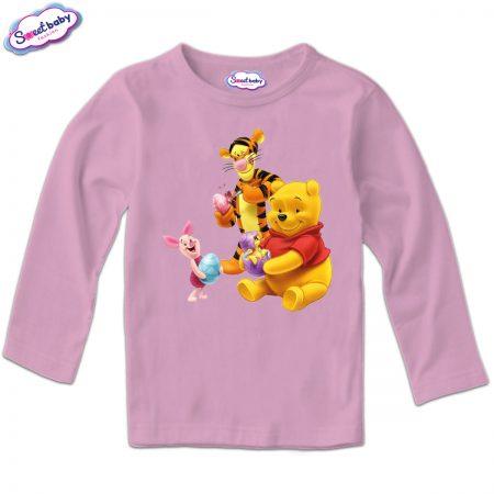 Детска блуза Боядисване на яйца розово