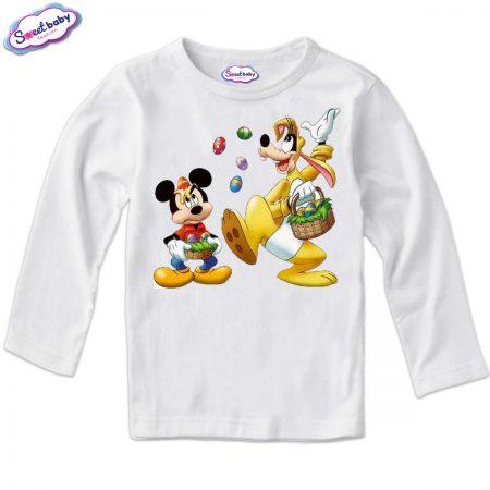 Детска блуза Игри с яйца бяло