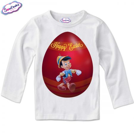 Детска блуза Пинокио яйце в бяло