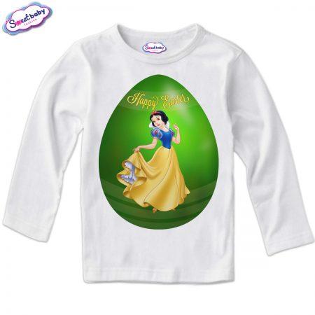 Детска блуза Снежанка яйце в бяло