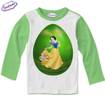 Детска блуза Снежанка яйце зелено бяло