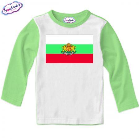 Детска блуза зелено Българско знаме