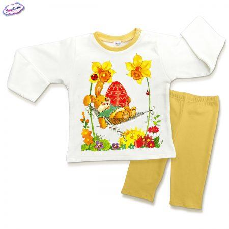 Детска пижама Боядисано яйце в жълто