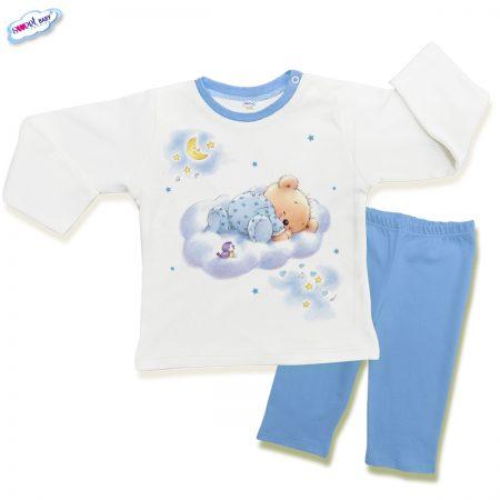 Детска пижама Мечо спи в синьо