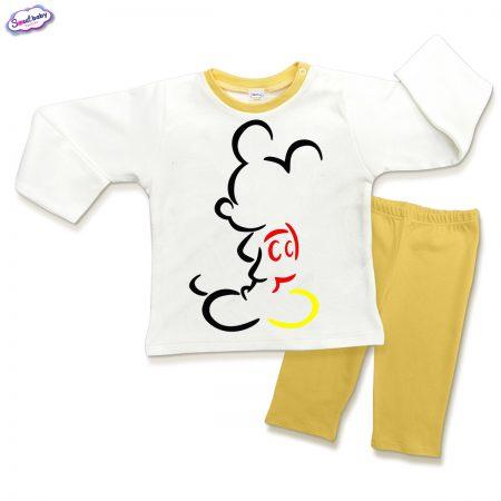 Детска пижама Мики Маус в жълто