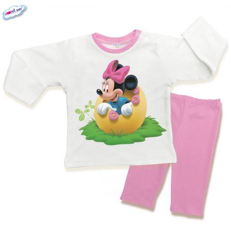 Детска пижама Мини и яйце розово