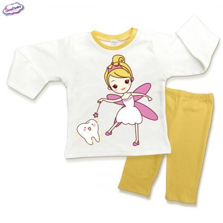 Детска пижама Феята на зъбките в жълто