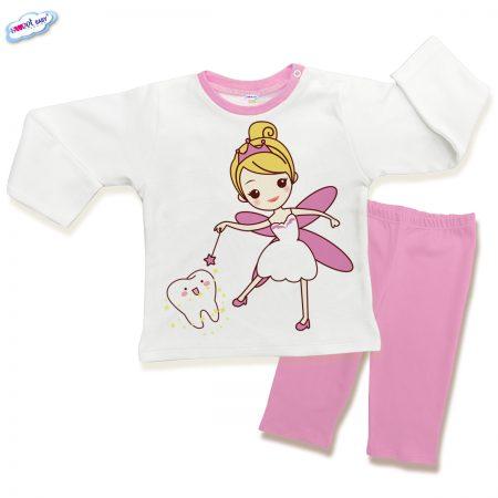 Детска пижама Феята на зъбките в розово
