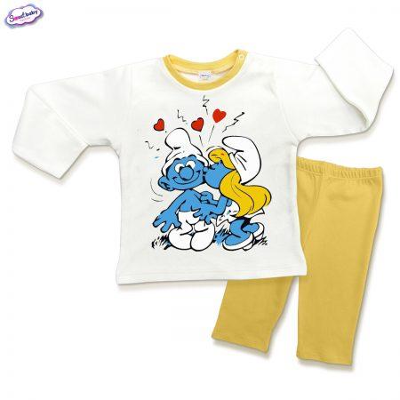 Детска пижама Целувка в жълто