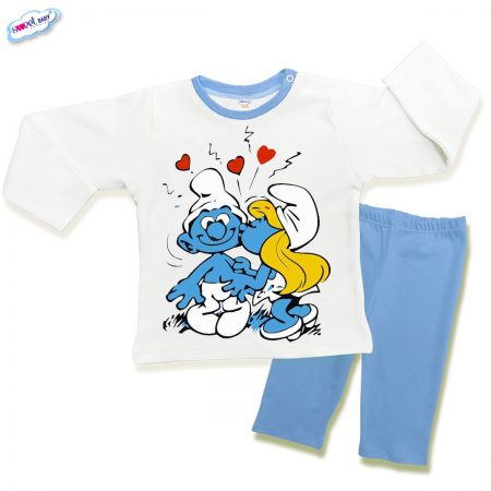 Детска пижама Целувка в синьо