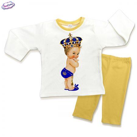 Детска пижама Babyking в жълто