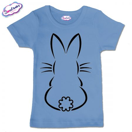 Детска тениска Зайко в синьо