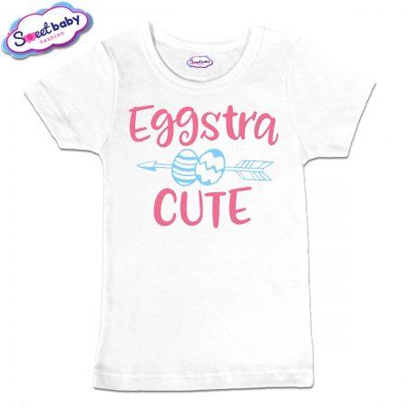 Детска тениска Eggstra в бяло