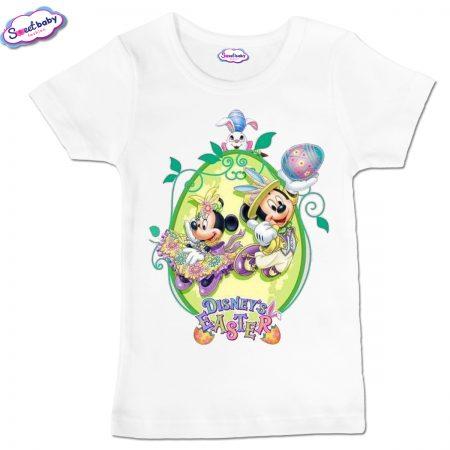 Детска тениска Miki Easter в бяло
