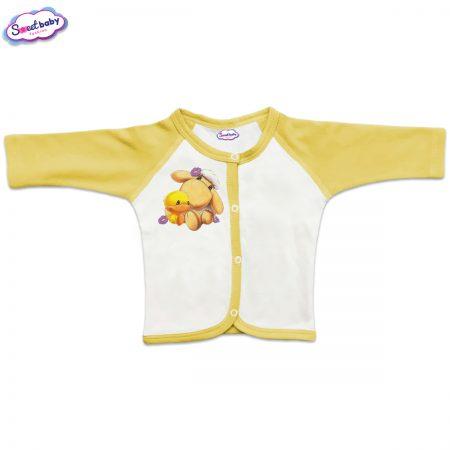Бебешка жилетка Милички предно закопчаване жълто