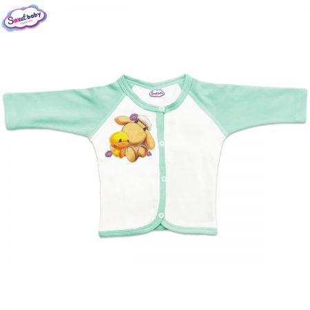 Бебешка жилетка Милички предно закопчаване мента