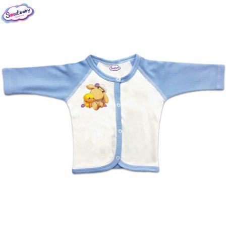 Бебешка жилетка Милички предно закопчаване синьо