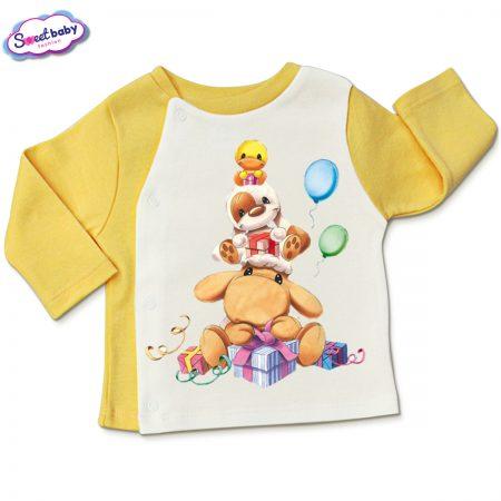 Бебешка жилетка Пролетни празници в жълто