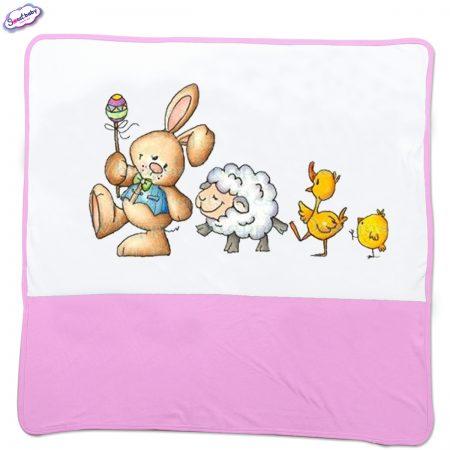 Бебешка пелена Празници в розово