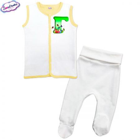 Бебешки сет Великден Г бяло жълто