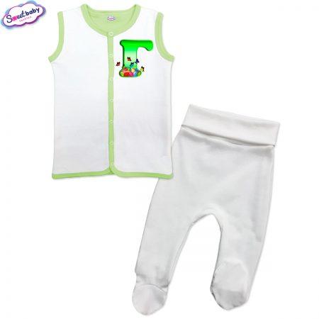 Бебешки сет Великден Г бяло зелено