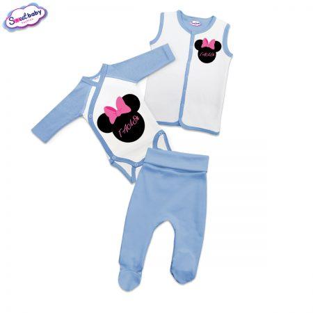 Бебешки сет Галя в синьо