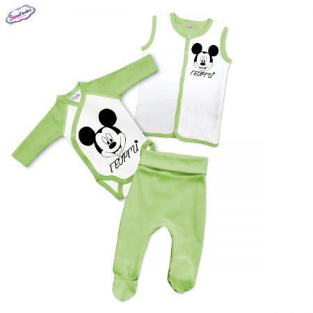 Бебешки сет Георги М в зелено