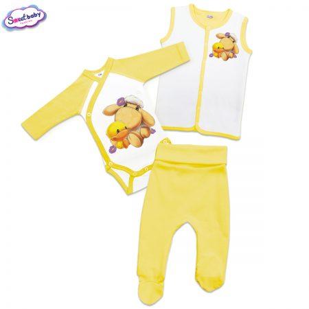Бебешки сет Милички жълто и бяло
