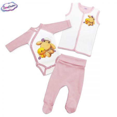 Бебешки сет Милички розово и бяло
