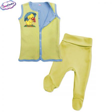 Бебешки сет Пате с чадърче жълто синьо