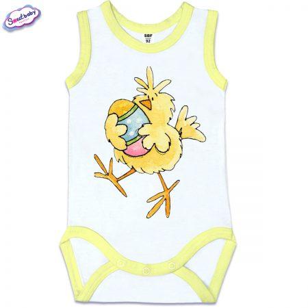 Бебешко боди Пиле и яйце жълто