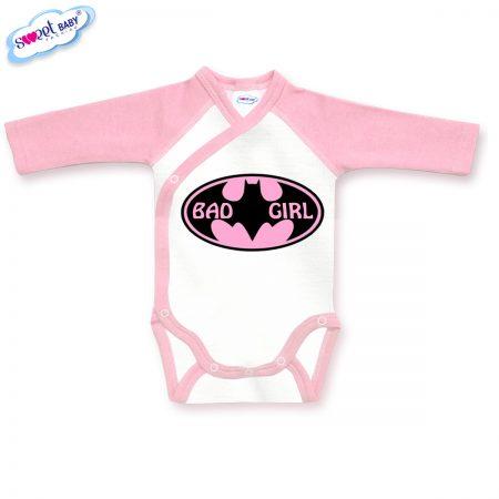 Бебешко боди BadGirl в розово бяло