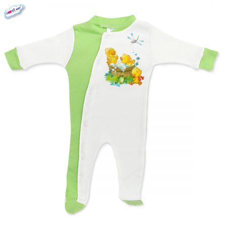Бебешко гащеризонче Патешка баня зелено бяло