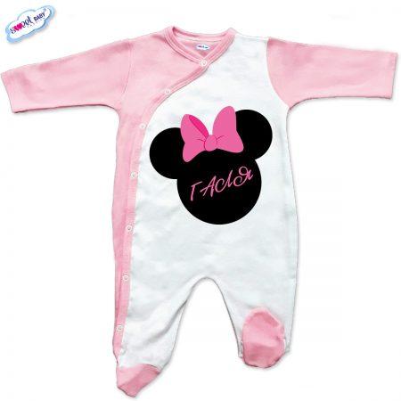 Бебешко гащеризон Галя в розово