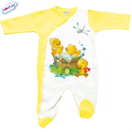 Бебешко гащеризон Патешка баня в жълто