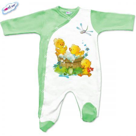 Бебешко гащеризон Патешка баня в зелено