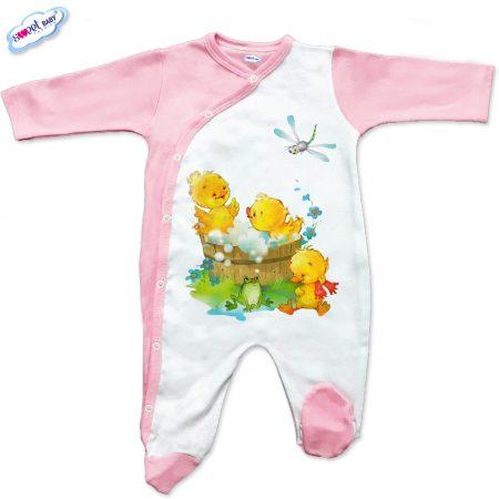 Бебешко гащеризон в розово Патешка баня