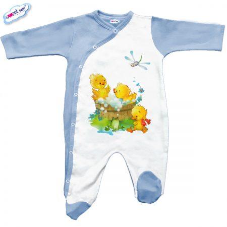 Бебешко гащеризон в синьо Патешка баня