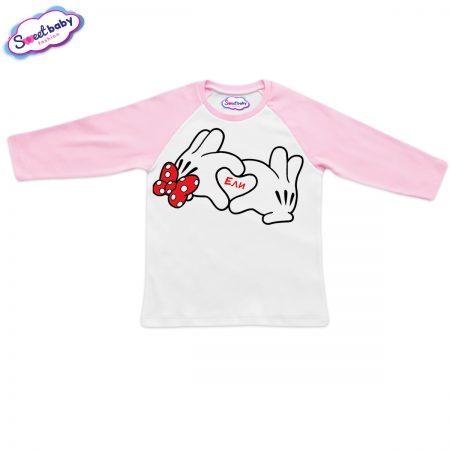 Блузка Ели розово и бяло