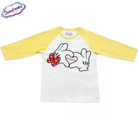 Блузка Коцето жълто и бяло