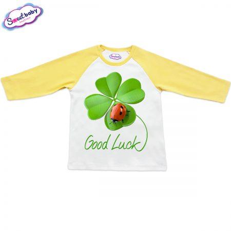 Блузка Good Luck жълто и бяло