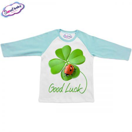 Блузка Good Luck мента и бяло