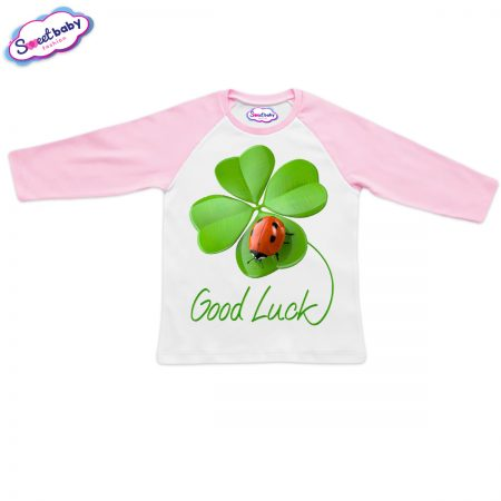 Блузка Good Luck розово и бяло