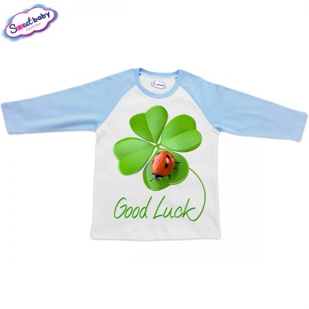 Блузка Good Luck синьо и бяло