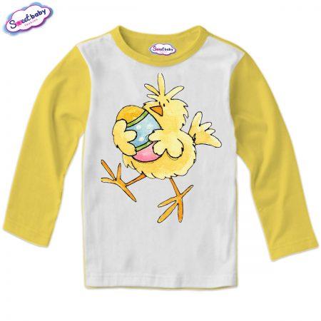 Детска блуза Пиле и яйце жълто