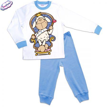 Детска пижама Гергьовден синьо и бяло