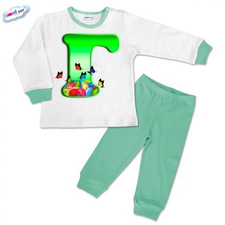 Детска пижамка Великден Г в мента